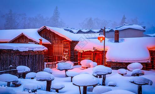 黑龙江牡丹江雪村雪乡风景图片