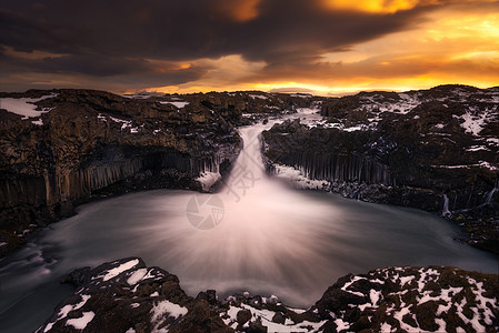 冰岛众神瀑布山川河流瀑布风光图片