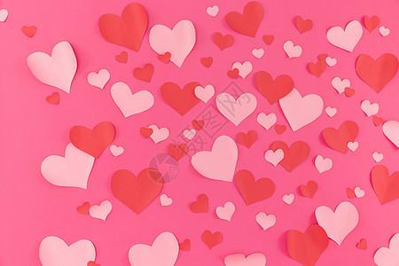 铺满爱心的粉色背景图片