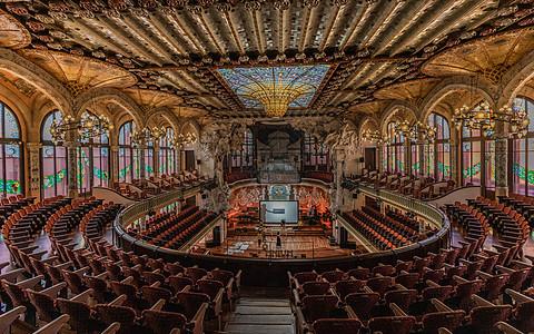 巴塞罗那旅游景点加泰罗尼亚音乐厅图片