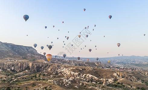 土耳其热门旅游项目卡帕多西亚热气球图片