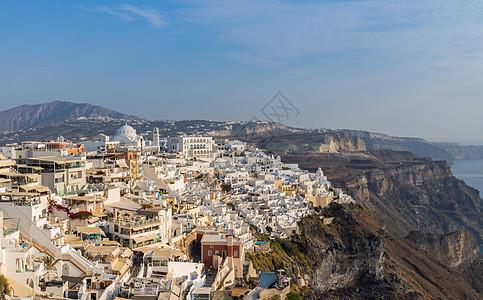 希腊著名海岛圣托里尼海岛上美丽小镇图片