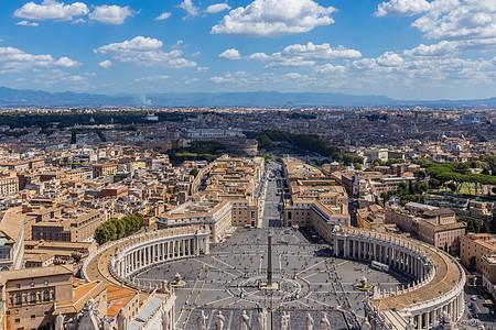 俯拍意大利首都罗马圣彼得大广场图片