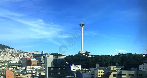 韩国釜山海云台灯塔图片
