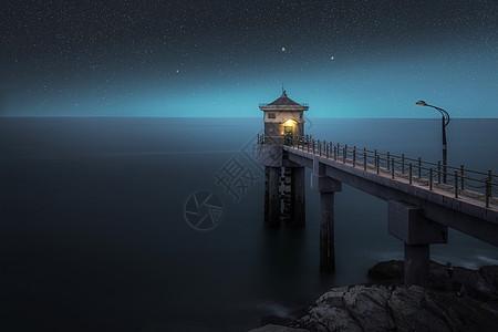 海港星空图片
