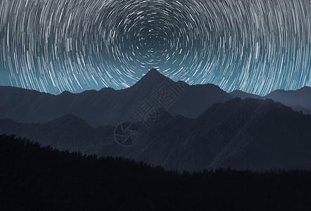 山与星轨图片