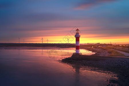 海港发电风光图片