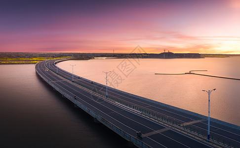 航拍大桥风光图片
