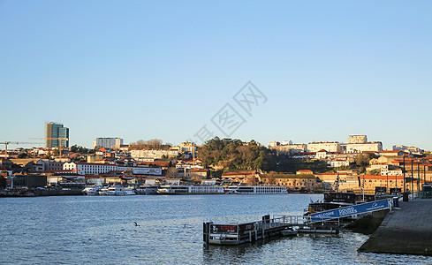葡萄牙波尔图杜罗河码头清晨美景图片