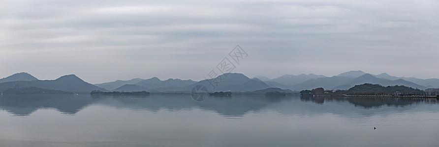 杭州西湖山水风景长图图片