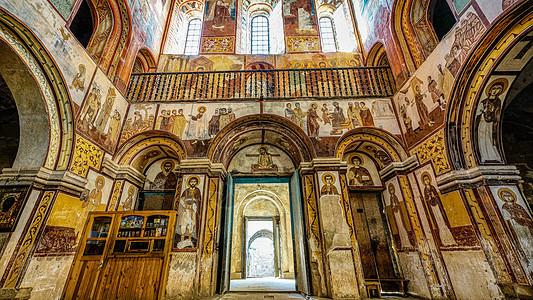 亚美尼亚修道院墙壁壁画图片