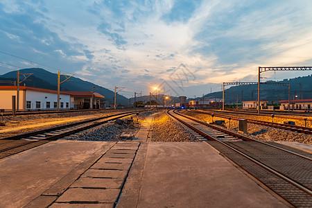 火车站站台图片