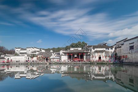 中国最美古村安徽宏村月湖图片