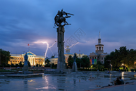 吉尔吉斯斯坦比什凯克音乐厅广场风景图片