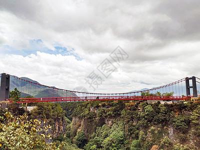 云南东巴秘境玻璃桥图片