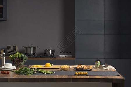 后现代风格室内厨房图片