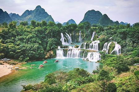 广西德天跨国瀑布图片