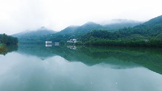 湖南澧县雨后山村图片