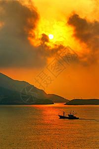 舟山嵊泗岛夕阳风光图片