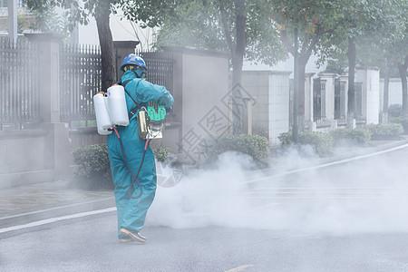 疫情防疫消杀消毒场景图片