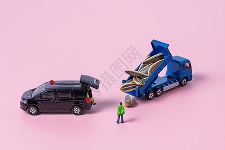 小人和模型车图片
