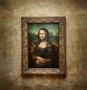 法国巴黎卢浮宫博物馆的油画《蒙娜丽莎》图片