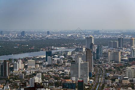 首都曼谷天使之城天际线湄南河图片