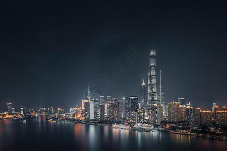 上海陆家嘴夜景灯光图片