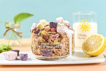 水果代餐酸奶块图片