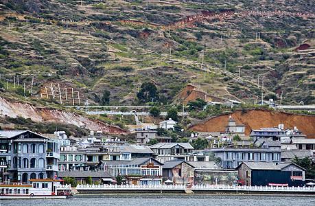云南泸沽湖小镇自然风光图片