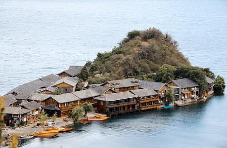 云南泸沽湖里格半岛自然风光图片
