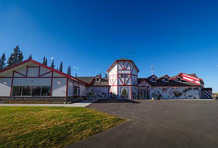 美国阿拉斯加费尔班克斯圣诞老人村图片