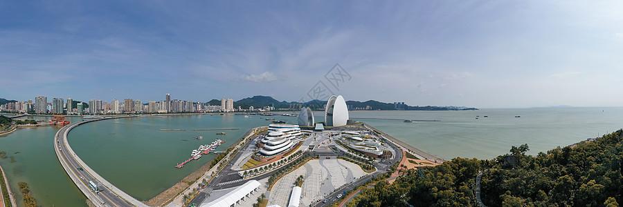 广东珠海地标日月贝大剧院全景长片图片