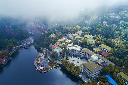 庐山如琴湖航拍图片