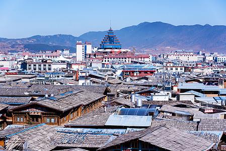 云南特色村庄全景图片