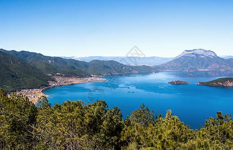 云南泸沽湖自然风光图片