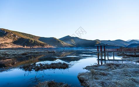 云南泸沽湖冬季风光图片