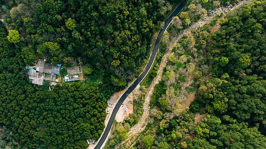雨后的福州森林公园公路航拍图片