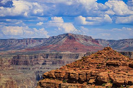 美国拉斯维加斯大峡谷公园红土白云图片