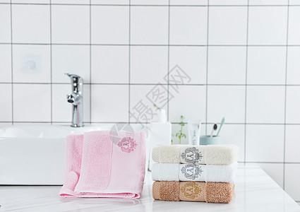 粉色毛巾图片