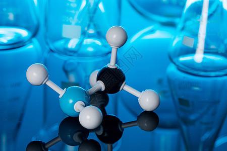病毒疫苗研发化学分子结构模型图片