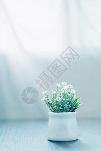 陈设品仿真花清新小盆栽图片