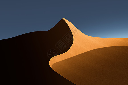 金色沙漠光与影图片