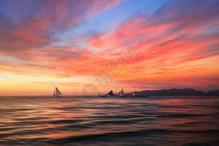 日出日落风光图片