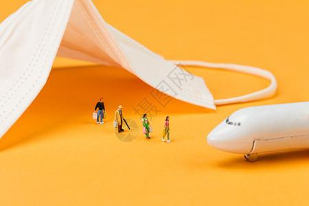 口罩坐飞机回国疫情防护图片