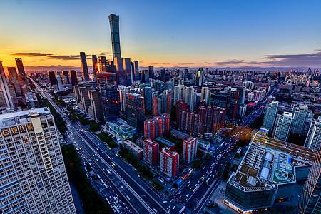 北京朝阳区CBD城市发展的建筑图片