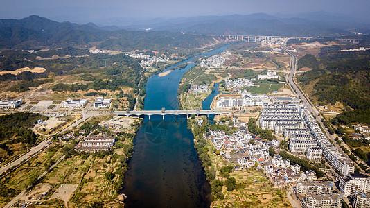 婺源县航拍风景图片