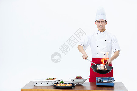 厨师炒菜形象 图片