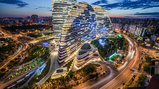 北京望京SOHO城市风光图片