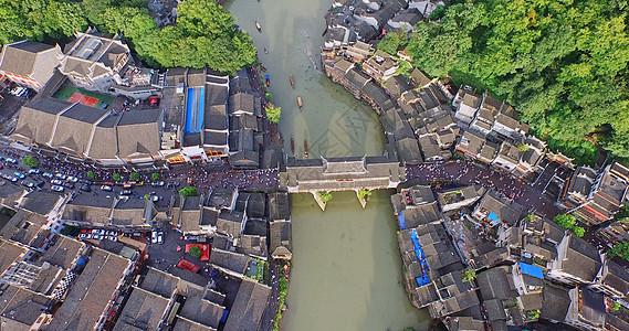 凤凰古城鸟瞰图图片